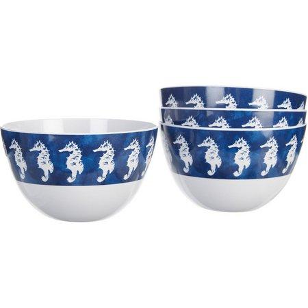 Coastal Home 4-pc. Seahorse Cereal Bowl Set