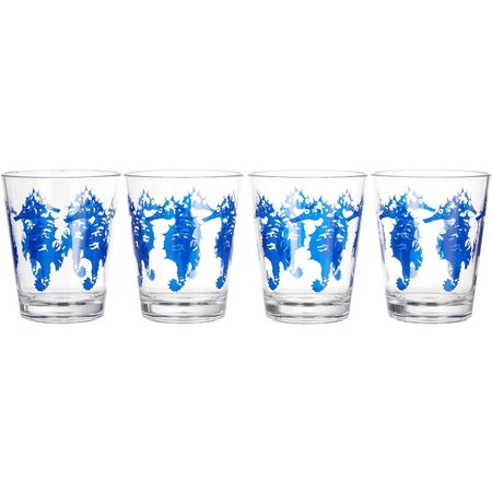 Coastal Home 4-pc. Seahorse DOF Glass Set