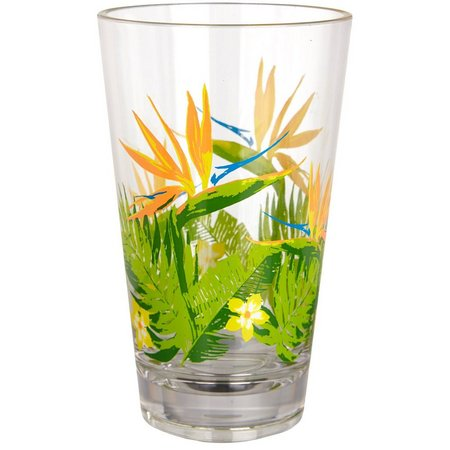 Coastal Home Birds Of Paradise Highball Glass