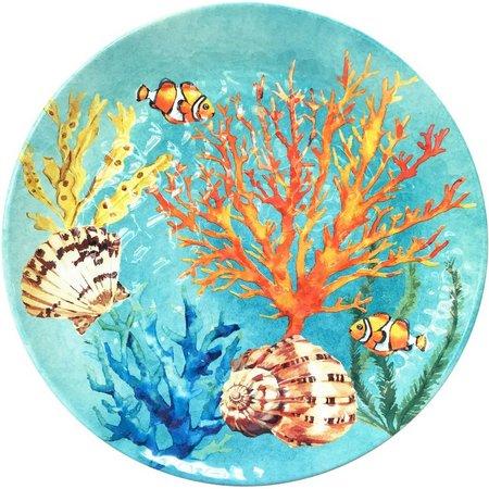 Coastal Home Creature Comfort Blue Ripple Plate