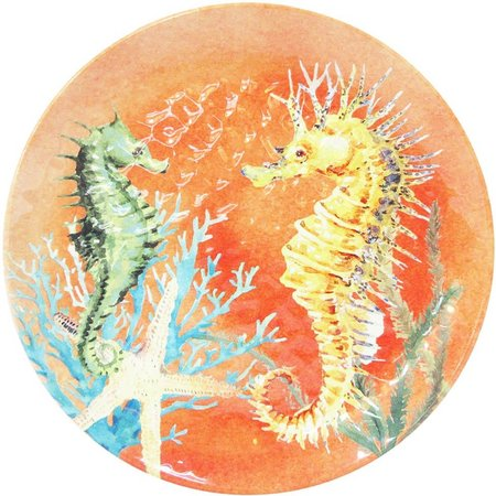 Coastal Home Creature Comfort Orange Salad Plate