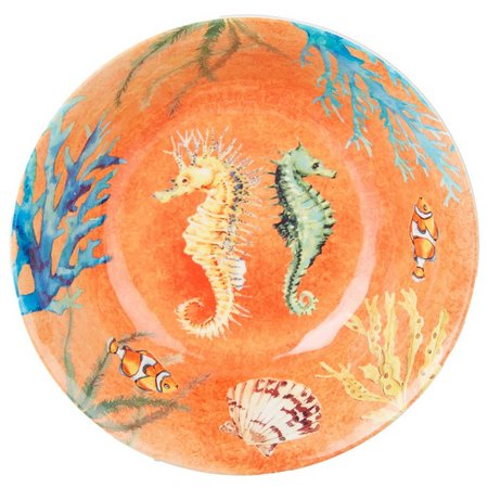Coastal Home Creature Comfort Orange Serve Bowl