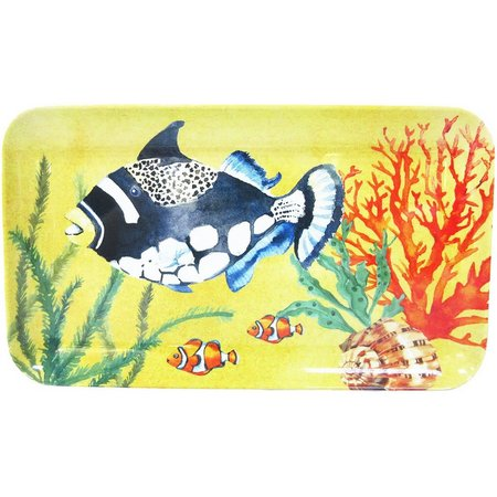 Coastal Home Creature Comfort Yellow Tidbit Tray