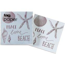 tag Peace Love Beach Napkin Set