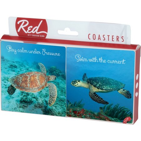 P. Graham Dunn 4-pc. Sea Turtle Coaster Set