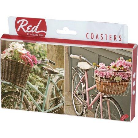 P. Graham Dunn 4-pc. Bicycles Coaster Set