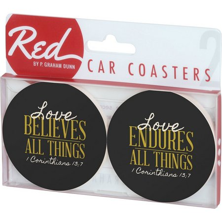 P. Graham Dunn 2-pc. Love Car Coasters