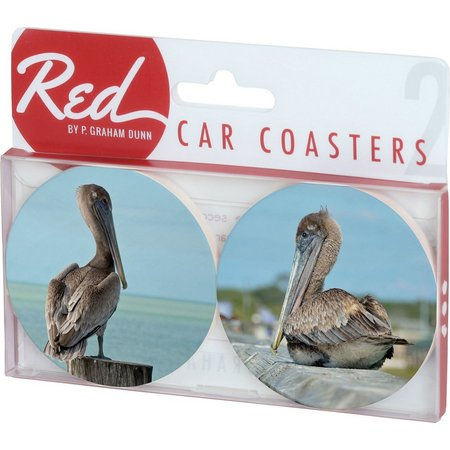 P. Graham Dunn 2-pc. Pelican Car Coasters