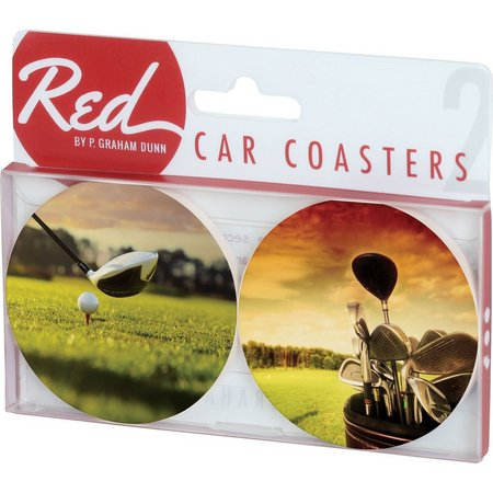 P. Graham Dunn 2-pc. Golf Car Coasters