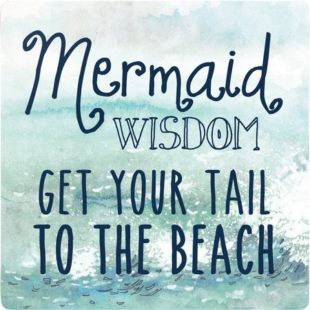 P. Graham Dunn Mermaid Wisdom Coaster