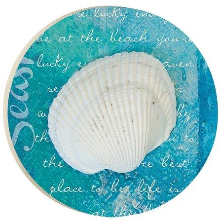 P. Graham Dunn Coastal Blues Shell Car Coaster