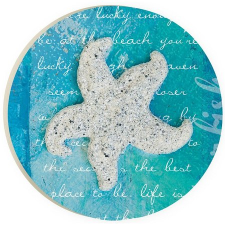 P. Graham Dunn Coastal Blues Starfish Car Coaster