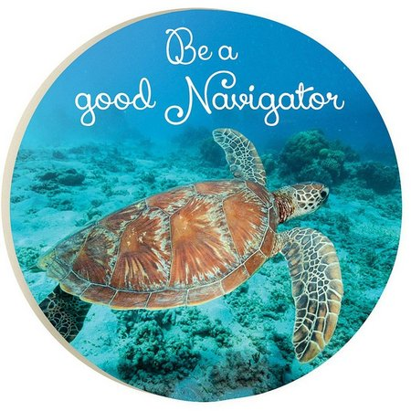 P. Graham Dunn Good Navigator Car Coaster