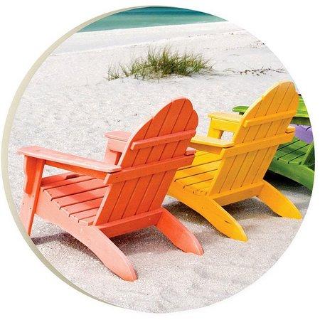 P. Graham Dunn Beach Time Car Coaster
