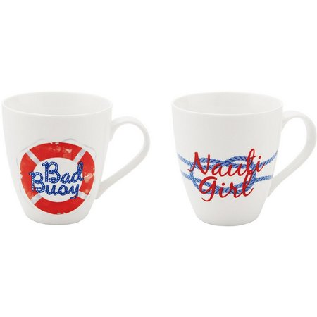 Pfaltzgraff 2-pc. Bad Buoy/Nauti Girl Mug Set