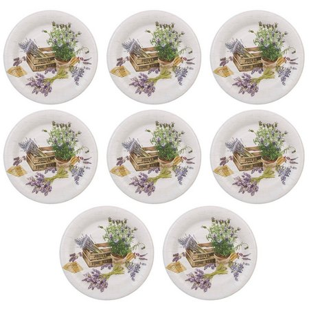 Boston International 8-pk. Provence 8'' Plates