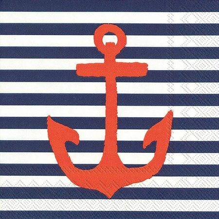 Boston International 40-pk. Anchor Blue Napkins