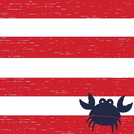 Boston International 40-pk. Crab Stripe Napkins