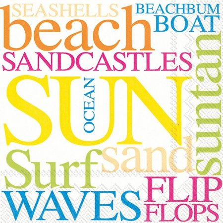 Boston International 40-pk. Beach Text Napkins
