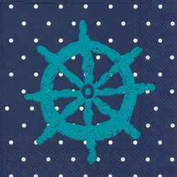 Boston International 40-pk. Ship Wheel Dot Napkins