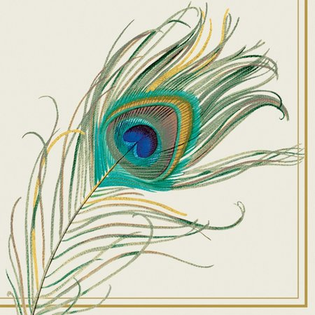 Boston International 40-pk. Peacock Feather Napkin