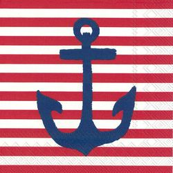 Boston International 20-pk. Anchor Red Napkins