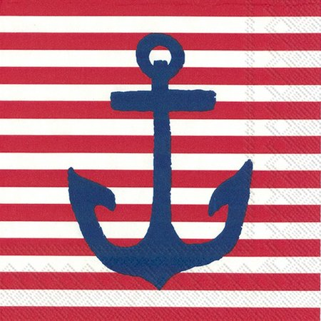 Boston International 20-pk. Anchor Red Napkins