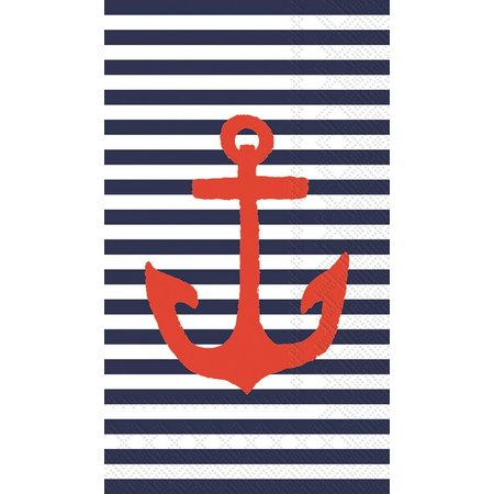 Boston International 16-pk. Red Anchor Napkins