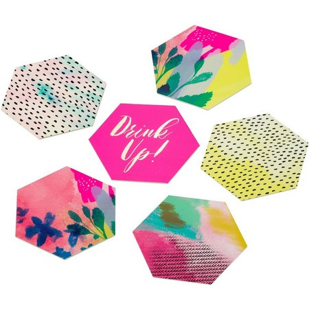 Talking Tables 12-pk. Fluorescent Card Coasters