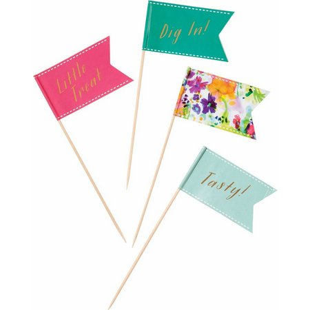 Talking Tables 24-pk. Floral Fiesta Canape Flags