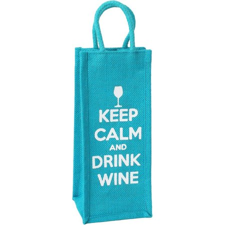 Thro Keep Calm And Drink Wine Bottle Bag