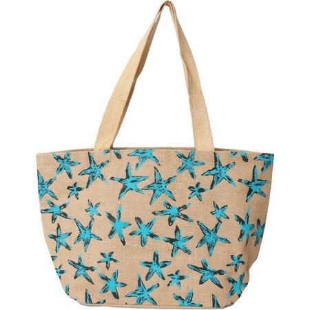 Thro Starfish Tote Bag