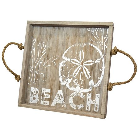 Coastal Home Wood Beach Serving Tray