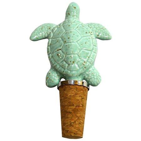 Coastal Home Glass Sea Turtle Bottle Stopper