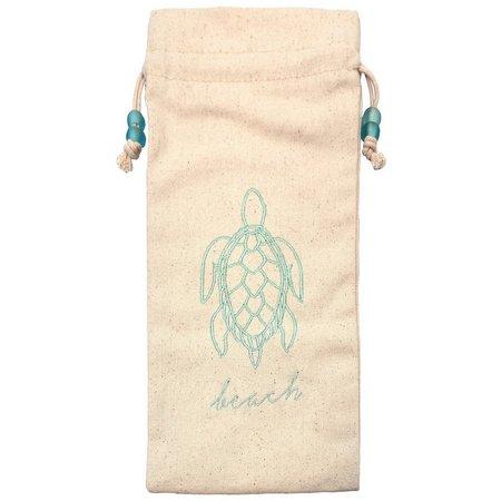 Coastal Home Turtle Wine Bottle Bag