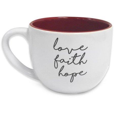 Artistic Home Love Faith Hope Mug