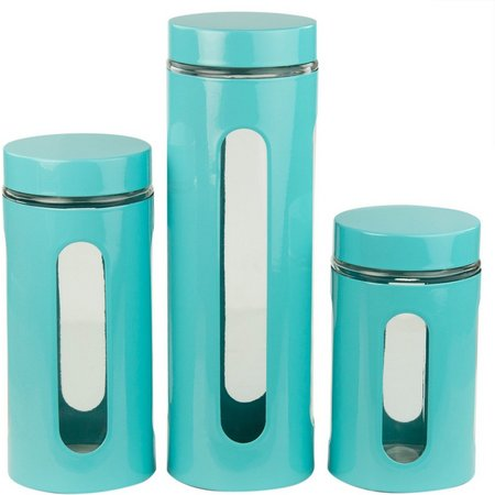 Home Basics 4-pc. Stainless Steel Canister Set