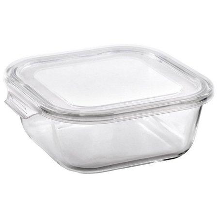 Bino 17.5 oz. Square Glass Storage Container