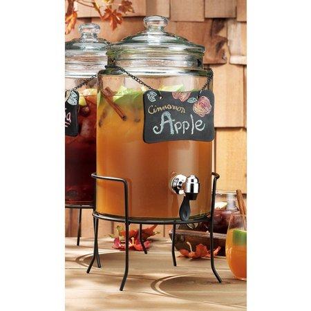 Home Essentials 1.5 Gallon Dispenser & Slate Label