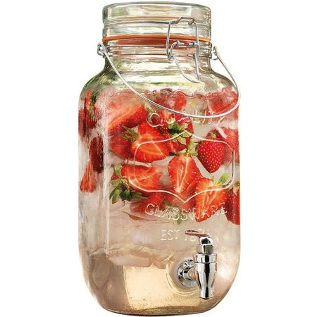 Home Essentials Glass Drink Dispenser