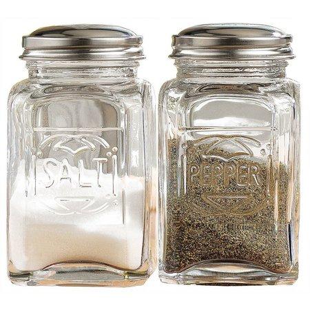 Home Essentials Glass Salt and Pepper Shaker Set