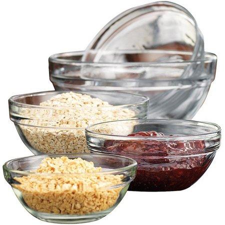 Home Essentials 5-pc. Glass Prep Bowl Set