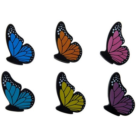 Kizmos 6-pc.Butterfly Clips Set