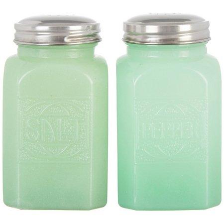 Amici Home Jade Glass Salt & Pepper Shaker