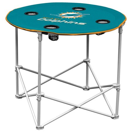 Miami Dolphins Portable Round Table by Logo Brands