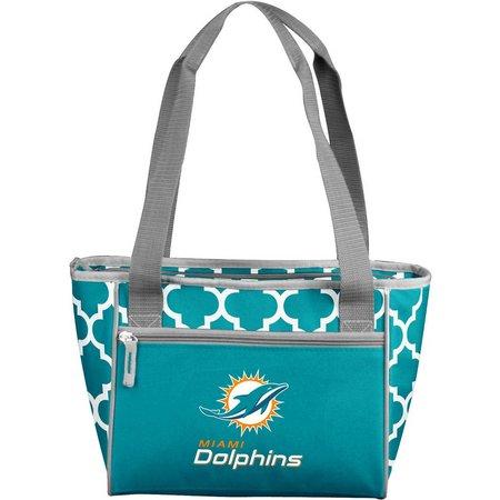 Miami Dolphins Quatrefoil 16 Can Cooler