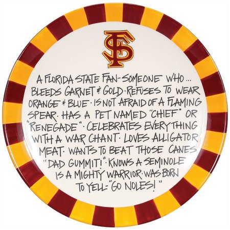 Florida State By Magnolia Lane Fan Plate