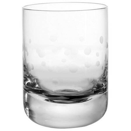 Qualia Etched Dot Double Old Fashioned Glass