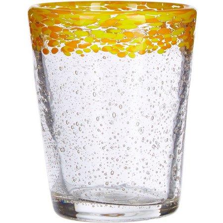 Artland 14 oz. Yellow Mingle DOF Glass