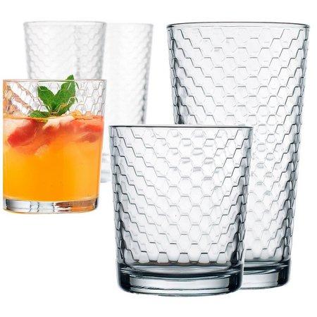 Home Essentials Honeycomb 8-pc. Glass Set